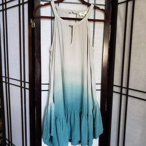 Umgee teal ombre dress